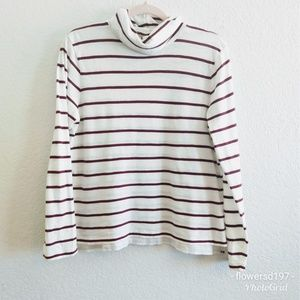 Madewell Turtle Neck Top Size Large
